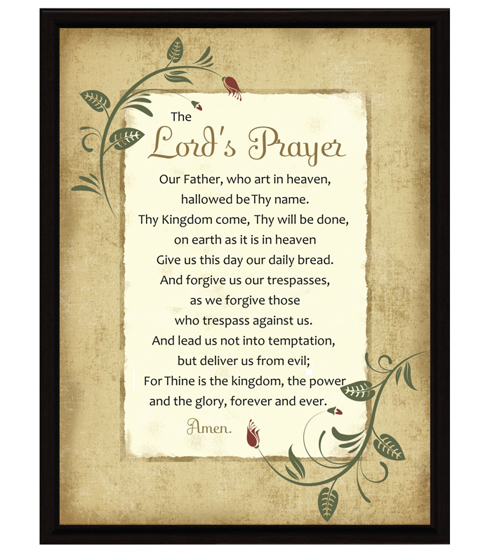 The Lord S Prayer Plaque
