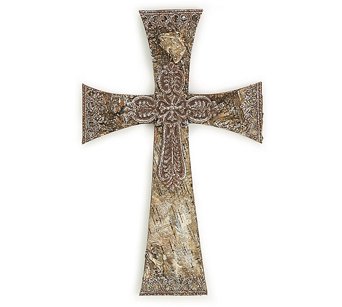 Birch Bark Wall Cross   wall cross, bark cross, wall decor, trendy cross, church decor, school decor, hanging cross, 9723393