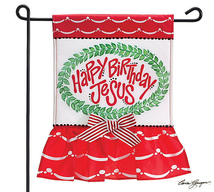 Happy Birthday Jesus Yard Flag cmas15g, christmas flag, yard flag, happy birthday jesus, christmas gift, christmas decor,