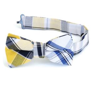 Boys Plaid Bowtie boys apparel, tie, boys tie, bowtie, yellow tie, blue tie, black tie, white tie, first communion, boys first communion, 11501B LARGE