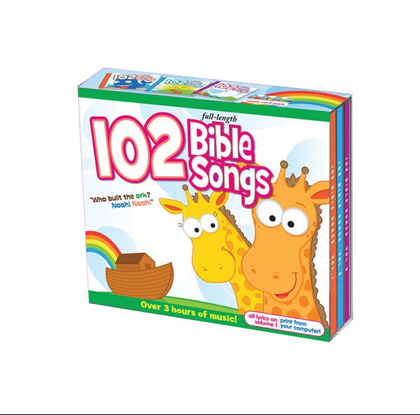102 Bible Songs 3-Cd Set 978-1-63058-801-4, bible songs, kids songs, kids cd, music cd, spirirual cd, children cd, children music, 8014