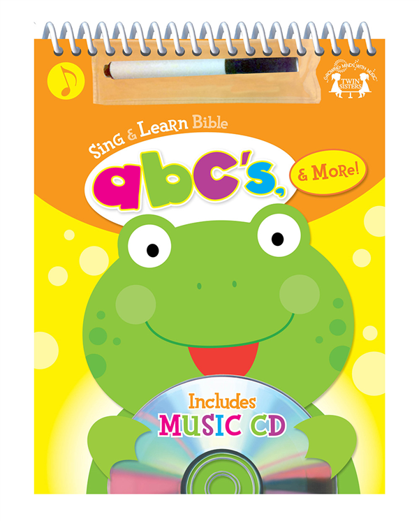 Bible ABC%27s Spiral Wipe-Clean Workbook & Cd  978-1-63058-833-5, wipe off games, activities,childrens activity book, teachers tool, travel book, travel activities, childrens gift, holiday gift, Sunday school materials, teachers material, cd, activity cd,8335