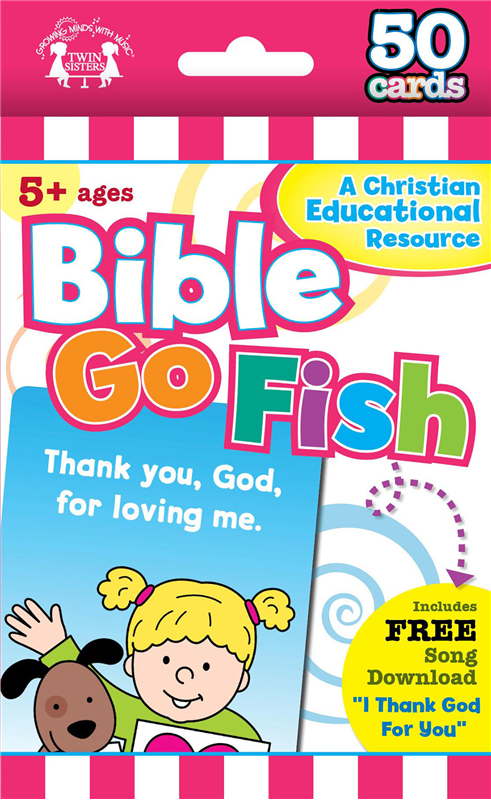 Bible Go Fish Christian 50-Count Flash Cards 978-1-63058-794-9, wipe off games, activities,childrens activity book, teachers tool, travel book, travel activities, childrens gift, holiday gift, Sunday school materials, teachers material,flash cards,7949