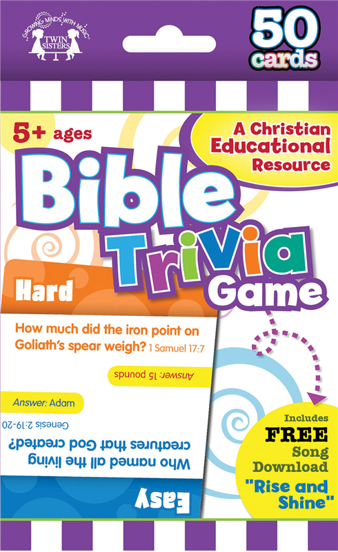 Bible Trivia Christian 50-Coun T Game Cards 978-63058-791-8, wipe off games, activities,childrens activity book, teachers tool, travel book, travel activities, childrens gift, holiday gift, Sunday school materials, teachers material,flash cards,7918