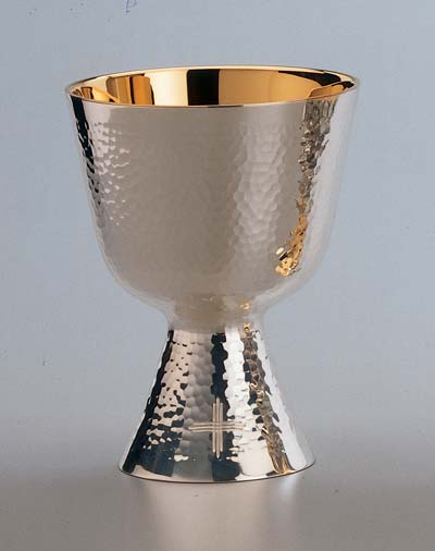 2820 Chalice and Paten modern, chalice and paten, chalice, silver chalice, gold lined, silver cup, sterling silver, church goods, church supplies, 2820, molina, artistic silver,
