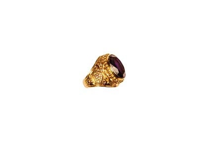 765 Bishop%27s Ring gothic, molina, bishop ring, purple stone, gold ring, silver ring, gold plated, bishop appointments, 765, artistic silver,