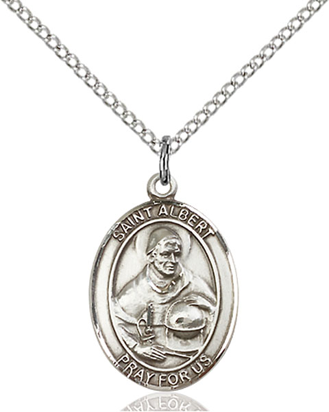 St. Albert The Great Pendant St. Albert The Great ,Scientists and Philosophers,Patron Saints,Patron Saints - A, sterling silver medals, gold filled medals, patron, saints, saint medal, saint pendant, saint necklace, 8001,7001,9001,7001SS,8001SS,9001SS,7001GF,8001GF,9001GF,