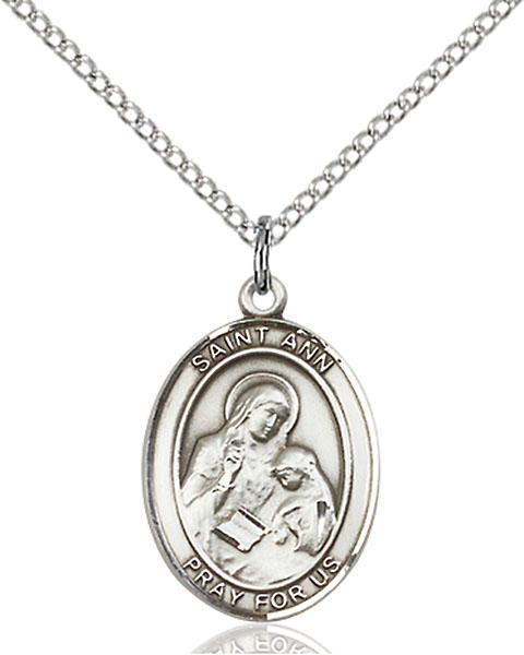 St. Ann Pendant St. Ann ,Housekeepers and Mothers,Patron Saints,Patron Saints - A, sterling silver medals, gold filled medals, patron, saints, saint medal, saint pendant, saint necklace, 8002,7002,9002,7002SS,8002SS,9002SS,7002GF,8002GF,9002GF,