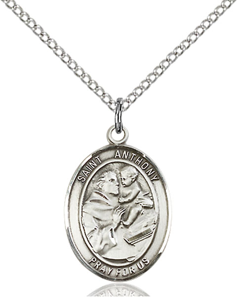 St. Anthony of Padua Pendant St. Anthony Of Padua ,Lost Articles and The Poor,Patron Saints,Patron Saints - A, sterling silver medals, gold filled medals, patron, saints, saint medal, saint pendant, saint necklace, 8004,7004,9004,7004SS,8004SS,9004SS,7004GF,8004GF,9004GF,