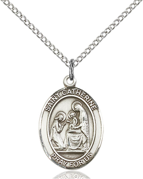 St. Catherine of Siena Pendant St. Catherine Of Siena ,Fire Prevention,Patron Saints,Patron Saints - C, sterling silver medals, gold filled medals, patron, saints, saint medal, saint pendant, saint necklace, 8014,7014,9014,7014SS,8014SS,9014SS,7014GF,8014GF,9014GF,