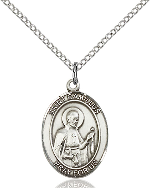 St. Camillus of Lellis Pendant St. Camillus Of Lellis ,Hospitals and Nurses,Patron Saints,Patron Saints - C, sterling silver medals, gold filled medals, patron, saints, saint medal, saint pendant, saint necklace, 8019,7019,9019,7019SS,8019SS,9019SS,7019GF,8019GF,9019GF,
