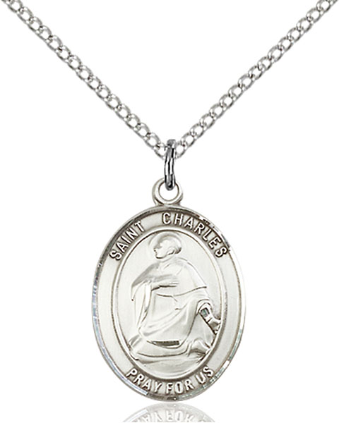 St. Charles Borromeo Pendant St. Charles Borromeo ,Catechists and Seminarians,Patron Saints,Patron Saints - C, sterling silver medals, gold filled medals, patron, saints, saint medal, saint pendant, saint necklace, 8020,7020,9020,7020SS,8020SS,9020SS,7020GF,8020GF,9020GF,