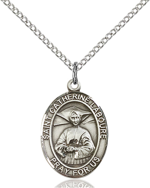 St. Catherine Laboure Pendant St. Catherine Laboure ,The Miraculous Medal,Patron Saints,Patron Saints - C, sterling silver medals, gold filled medals, patron, saints, saint medal, saint pendant, saint necklace, 8021,7021,9021,7021SS,8021SS,9021SS,7021GF,8021GF,9021GF,