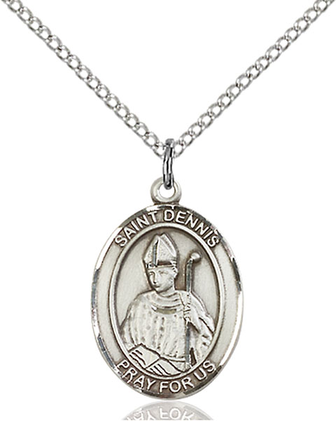 St. Dennis Pendant St. Dennis ,Headaches and Against Frenzy,Patron Saints,Patron Saints - D, sterling silver medals, gold filled medals, patron, saints, saint medal, saint pendant, saint necklace, 8025,7025,9025,7025SS,8025SS,9025SS,7025GF,8025GF,9025GF,
