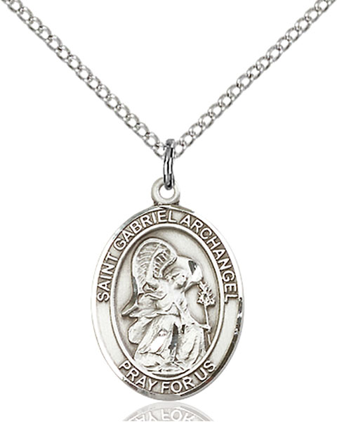 St. Gabriel The Archangel Pendant St. Gabriel The Archangel ,Messengers,Patron Saints,Patron Saints - G, sterling silver medals, gold filled medals, patron, saints, saint medal, saint pendant, saint necklace, 8039,7039,9039,7039SS,8039SS,9039SS,7039GF,8039GF,9039GF,