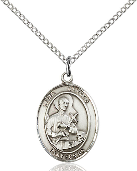St. Gerard Majella Pendant St. Gerard Majella ,Expectant Mothers,Patron Saints,Patron Saints - G, sterling silver medals, gold filled medals, patron, saints, saint medal, saint pendant, saint necklace, 8042,7042,9042,7042SS,8042SS,9042SS,7042GF,8042GF,9042GF,