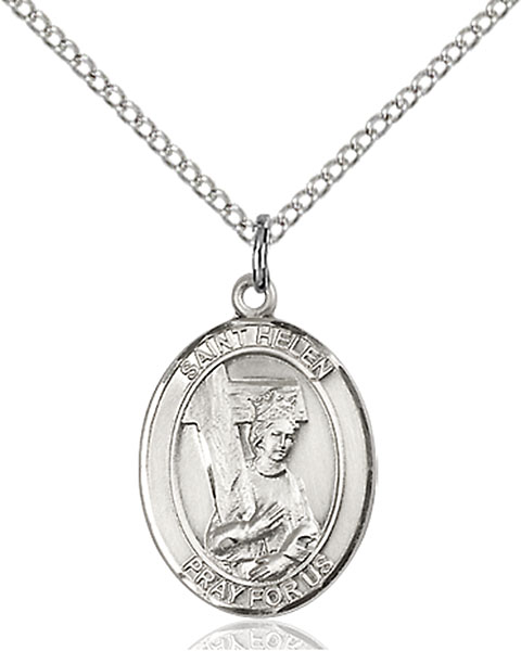 St. Helen Pendant St. Helen ,Difficult Marriages,Patron Saints,Patron Saints - H, sterling silver medals, gold filled medals, patron, saints, saint medal, saint pendant, saint necklace, 8043,7043,9043,7043SS,8043SS,9043SS,7043GF,8043GF,9043GF,
