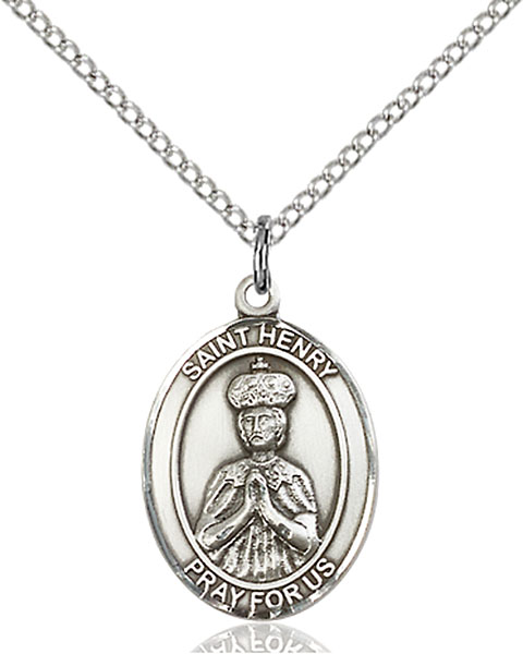 St. Henry II Pendant St. Henry Ii ,Handicapped and The Childless,Patron Saints,Patron Saints - H, sterling silver medals, gold filled medals, patron, saints, saint medal, saint pendant, saint necklace, 8046,7046,9046,7046SS,8046SS,9046SS,7046GF,8046GF,9046GF,