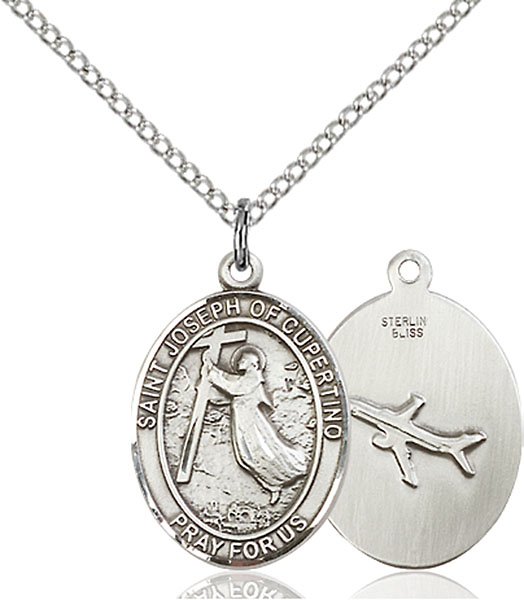 St. Joseph of Cupertino Pendant St. Joseph Of Cupertino ,Pilots and Airforce,Patron Saints,Patron Saints - J, sterling silver medals, gold filled medals, patron, saints, saint medal, saint pendant, saint necklace, 8057,7057,9057,7057SS,8057SS,9057SS,7057GF,8057GF,9057GF,