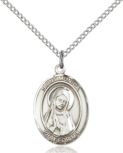 St. Monica Pendant St. Monica ,Abuse Victims,Patron Saints,Patron Saints - M, sterling silver medals, gold filled medals, patron, saints, saint medal, saint pendant, saint necklace, 8079,7079,9079,7079SS,8079SS,9079SS,7079GF,8079GF,9079GF,