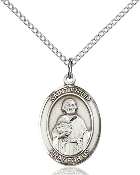 St. Philip The Apostle Pendant St. Philip The Apostle ,Hatters and Pastry Chefs,Patron Saints,Patron Saints - P, sterling silver medals, gold filled medals, patron, saints, saint medal, saint pendant, saint necklace, 8083,7083,9083,7083SS,8083SS,9083SS,7083GF,8083GF,9083GF,