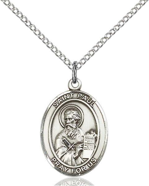St. Paul The Apostle Pendant St. Paul The Apostle ,Publishers and Reporters,Patron Saints,Patron Saints - P, sterling silver medals, gold filled medals, patron, saints, saint medal, saint pendant, saint necklace, 8086,7086,9086,7086SS,8086SS,9086SS,7086GF,8086GF,9086GF,