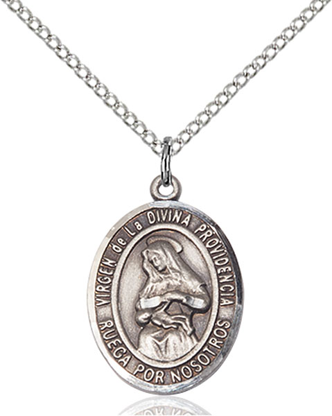 Virgen Divina Providencia Pendant Virgen Divina Providencia ,Puerto Rico,Our Lady And Miraculous,Virgen Divina Providencia, sterling silver medals, gold filled medals, patron, saints, saint medal, saint pendant, saint necklace, 8087, spanish medal, spanish necklace,7087 Spanish,9087 Spanish,
