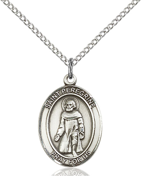 St. Peregrine Laziosi Pendant St. Peregrine Laziosi ,Cancer and Running Sores,Patron Saints,Patron Saints - P, sterling silver medals, gold filled medals, patron, saints, saint medal, saint pendant, saint necklace, 8088,peregrine,7088,9088,7088SS,8088SS,9088SS,7088GF,8088GF,9088GF,