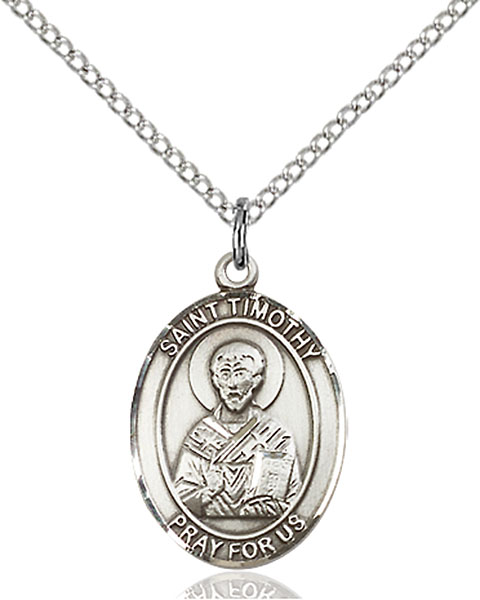 St. Timothy Pendant St. Timothy ,Stomach Disorders,Patron Saints,Patron Saints - T, sterling silver medals, gold filled medals, patron, saints, saint medal, saint pendant, saint necklace, 8105,7105,9105,7105SS,8105SS,9105SS,7105GF,8105GF,9105GF,