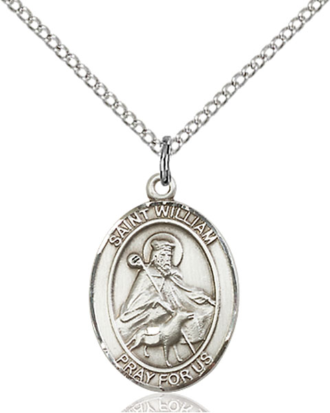 St. William of Rochester Pendant St. William Of Rochester ,Adopted Children,Patron Saints,Patron Saints - W, sterling silver medals, gold filled medals, patron, saints, saint medal, saint pendant, saint necklace, 8114,7114,9114,7114SS,8114SS,9114SS,7114GF,8114GF,9114GF,