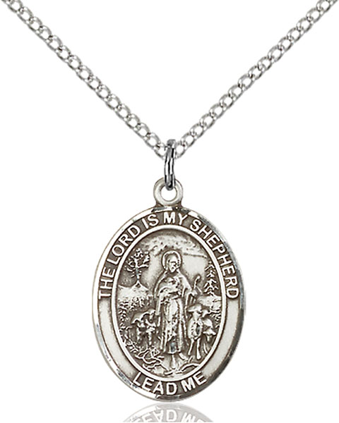 Lord Is My Shepherd Pendant Lord Is My Shepherd,Unusual & Specialty,LORD IS MY SHEPHERD, sterling silver medals, gold filled medals, patron, saints, saint medal, saint pendant, saint necklace, 8119,7119,9119,7119SS,8119SS,9119SS,7119GF,8119GF,9119GF,