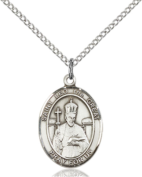 St. Leo The Great Pendant St. Leo The Great ,Speakers,Patron Saints,Patron Saints - L, sterling silver medals, gold filled medals, patron, saints, saint medal, saint pendant, saint necklace, 8120,7120,9120,7120SS,8120SS,9120SS,7120GF,8120GF,9120GF,