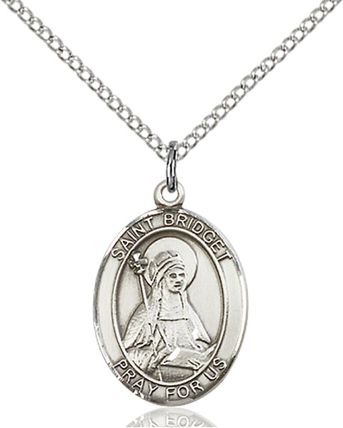 St. Bridget of Sweden Pendant St. Bridget Of Sweden ,Widows and Sweden,Patron Saints,Patron Saints - B, sterling silver medals, gold filled medals, patron, saints, saint medal, saint pendant, saint necklace, 8122,7122,9122,7122SS,8122SS,9122SS,7122GF,8122GF,9122GF,