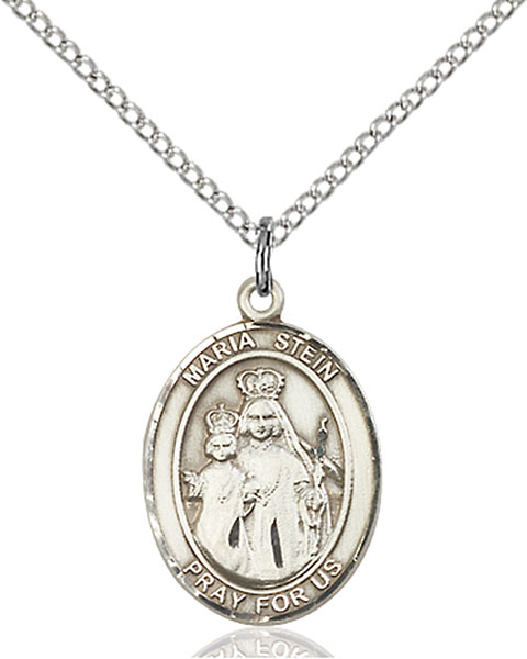 Maria Stein Pendant Maria Stein,Unusual & Specialty,MARIA STEIN, sterling silver medals, gold filled medals, patron, saints, saint medal, saint pendant, saint necklace, 8133,7133,9133,7133SS,8133SS,9133SS,7133GF,8133GF,9133GF,