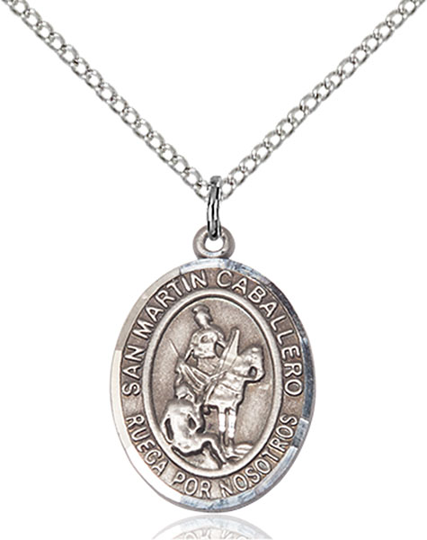 San Martin Caballero Pendant San Martin Caballero ,Reformed Alcoholics,Patron Saints,Patron Saints - M, sterling silver medals, gold filled medals, patron, saints, saint medal, saint pendant, saint necklace, 8200, spanish medal, spanish necklace,7200 Spanish,9200 Spanish,