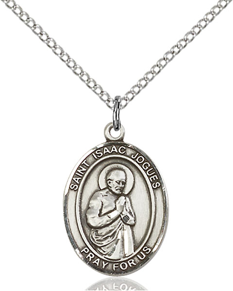 St. Isaac Jogues Pendant St. Isaac Jogues ,The Americas,Patron Saints,Patron Saints - I, sterling silver medals, gold filled medals, patron, saints, saint medal, saint pendant, saint necklace, 8212,7212,9212,7212SS,8212SS,9212SS,7212GF,8212GF,9212GF,