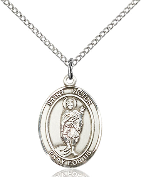 St. Victor of Marseilles Pendant St. Victor Of Marseilles ,Lightning and Millers,Patron Saints,Patron Saints - V, sterling silver medals, gold filled medals, patron, saints, saint medal, saint pendant, saint necklace, 8223,7223,9223,7223SS,8223SS,9223SS,7223GF,8223GF,9223GF,