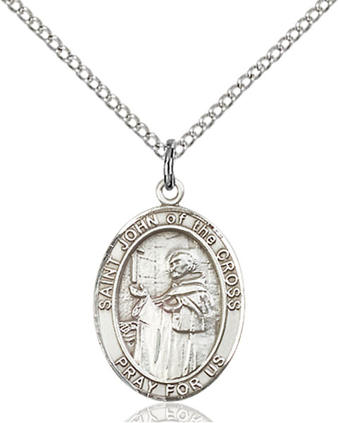 St. John of The Cross Pendant St. John Of The Cross ,Contemplatives,Patron Saints,Patron Saints - J, sterling silver medals, gold filled medals, patron, saints, saint medal, saint pendant, saint necklace, 8231,7231,9231,7231SS,8231SS,9231SS,7231GF,8231GF,9231GF,