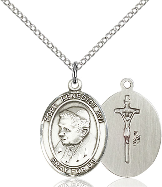 Pope Benedict XVI Pendant Pope Benedict Xvi,Unusual & Specialty,POPE BENEDICT XVI, sterling silver medals, gold filled medals, patron, saints, saint medal, saint pendant, saint necklace, 8235,7235,9235,7235SS,8235SS,9235SS,7235GF,8235GF,9235GF,