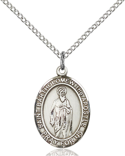 St. Bartholomew The Apostle Pendant St. Bartholomew The Apostle ,Cobblers and Nervous Diseases,Patron Saints,Patron Saints - B, sterling silver medals, gold filled medals, patron, saints, saint medal, saint pendant, saint necklace, 8238,7238,9238,7238SS,8238SS,9238SS,7238GF,8238GF,9238GF,