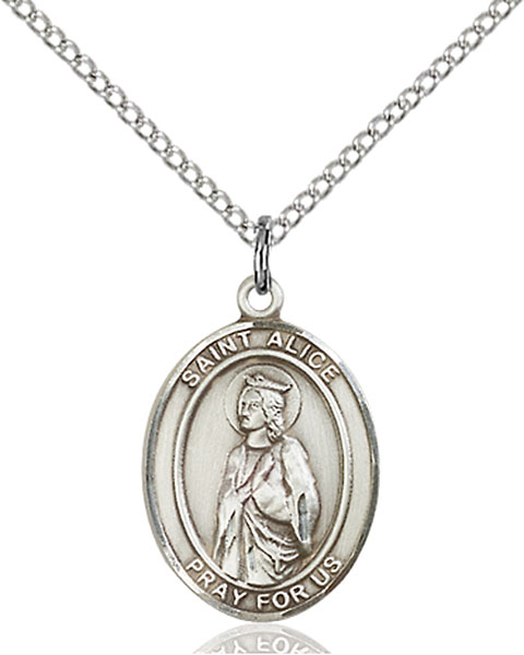 St. Alice Pendant St. Alice ,Blind and Paralyzed,Patron Saints,Patron Saints - A, sterling silver medals, gold filled medals, patron, saints, saint medal, saint pendant, saint necklace, 8248,7248,9248,7248SS,8248SS,9248SS,7248GF,8248GF,9248GF,