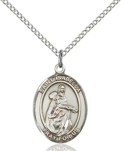 St. Isabella of Portugal Pendant St. Isabella Of Portugal ,Peace and Charities,Patron Saints,Patron Saints - I, sterling silver medals, gold filled medals, patron, saints, saint medal, saint pendant, saint necklace, 8250,7250,9250,7250SS,8250SS,9250SS,7250GF,8250GF,9250GF,