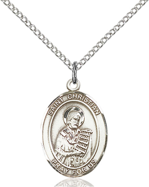 St. Christian Demosthenes Pendant St. Christian Demosthenes,Patron Saints,Patron Saints - C, sterling silver medals, gold filled medals, patron, saints, saint medal, saint pendant, saint necklace, 8257,7257,9257,7257SS,8257SS,9257SS,7257GF,8257GF,9257GF,