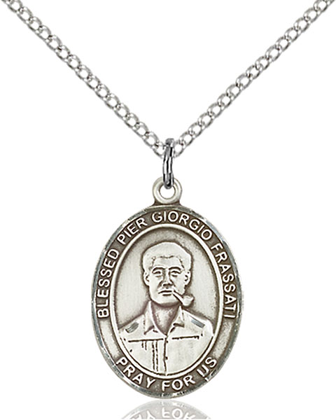 Blessed Pier Giorgio Frassati Pendant Blessed Pier Giorgio Frassati ,World Youth Day,Patron Saints,Patron Saints - P, sterling silver medals, gold filled medals, patron, saints, saint medal, saint pendant, saint necklace, 8278,7278,9278,7278SS,8278SS,9278SS,7278GF,8278GF,9278GF,