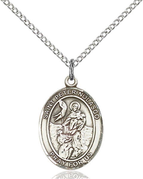 St. Peter Nolasco Pendant St. Peter Nolasco,Patron Saints,Patron Saints - P, sterling silver medals, gold filled medals, patron, saints, saint medal, saint pendant, saint necklace, 8291,7291,9291,7291SS,8291SS,9291SS,7291GF,8291GF,9291GF,