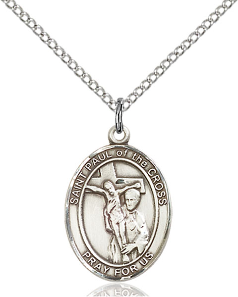 St. Paul of The Cross Pendant St. Paul Of The Cross,Patron Saints,Patron Saints - P, sterling silver medals, gold filled medals, patron, saints, saint medal, saint pendant, saint necklace, 8318,7318,9318,7318SS,8318SS,9318SS,7318GF,8318GF,9318GF,