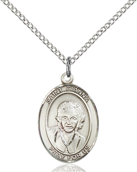 St. Gianna Pendant St. Gianna,Patron Saints,Patron Saints - G, sterling silver medals, gold filled medals, patron, saints, saint medal, saint pendant, saint necklace, 8322,7322,9322,7322SS,8322SS,9322SS,7322GF,8322GF,9322GF,