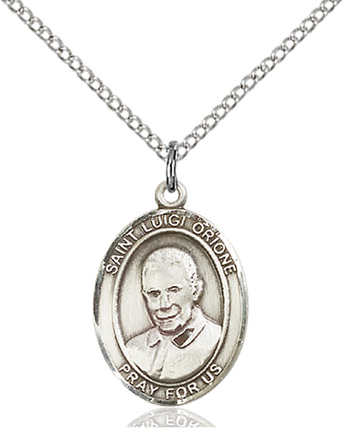 St. Luigi Orione Pendant St. Luigi Orione ,Poor and Homeless and Abandoned,Patron Saints,Patron Saints - L, sterling silver medals, gold filled medals, patron, saints, saint medal, saint pendant, saint necklace, 8326,7326,9326,7326SS,8326SS,9326SS,7326GF,8326GF,9326GF,