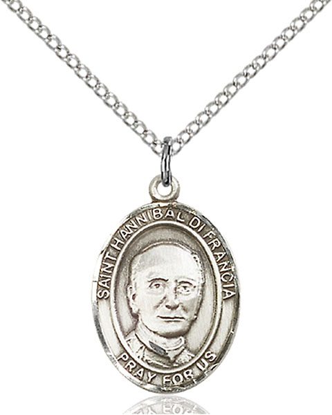 St. Hannibal Pendant St. Hannibal ,Orphanages and Seminarians,Patron Saints,Patron Saints - H, sterling silver medals, gold filled medals, patron, saints, saint medal, saint pendant, saint necklace, 8327,7327,9327,7327SS,8327SS,9327SS,7327GF,8327GF,9327GF,