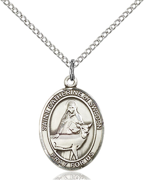 St. Catherine of Sweden Pendant St. Catherine Of Sweden ,Miscarries and Anti-Abortion,Patron Saints,Patron Saints - C, sterling silver medals, gold filled medals, patron, saints, saint medal, saint pendant, saint necklace, 8336,7336,9336,7336SS,8336SS,9336SS,7336GF,8336GF,9336GF,